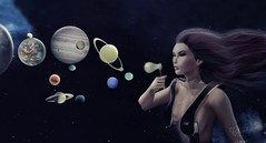 ↻ Birth of the new universe ☽ ✧ ☼ (Petite Chouky) Tags: gaeg elleetgance jenny jennifer bento mesh head gaeline petite chouky sl second life universe planets bubbles blow creation new female woman girl space world