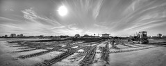 On a solitary beach (Goethe58) Tags: portogaribaldi nikon d610 nikkor nikkor1835 ferrara emiliaromagna beach catterpillar sand clouds italy biancoenero blackandwhite