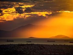 Sunset over Piraeus (Giovanni C.) Tags: cf089636 mamiya mediumformat mf nohdr 645 mediumformatdigital afd digitalback digital 6x45 mamiya645 645af 645afd gcap giovannic phaseone
