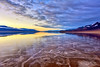 Badwater Sunset (markwhitt) Tags: markwhitt markwhittphotography deathvalley deathvalleynationalpark nationalpark usnationalpark usa california desert badwater badwaterbasin water reflections sunset clouds landscape mountains formations shapes travel adventure scenic standinginthewater lake nikon colors outdoors