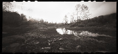 Daybreak by the River (DRCPhoto) Tags: zeroimage612b pinhole lenslessphotography kodakbw400cn cheatriver 120film westvirginia