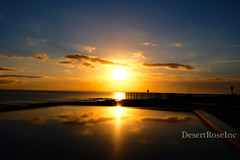 Sunrise Reflections (1DesertRose) Tags: season cool beach sea ocean xt20 fujifilm landscape jervisbay australia nsw sky peaceful relaxing bright golden clouds morning spring lovely pretty sunrise water reflection