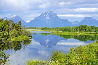River Snake & Mount Moran from Oxbow Bend Overlook, Grand Teton
