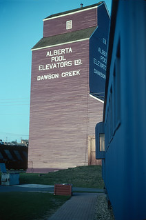 Here is that grain elevator and at the right edge of the photo is ...