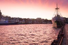 Stavange Harbour (irawlinson) Tags: stavanger shops quayside mooring dawn sunrise norway