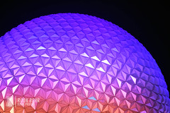 Spaceship Earth at Night (rook.behr) Tags: epcot outdoors night disneyworld colorfullighting spaceshipearth lightsandlamps light lighting lights outside