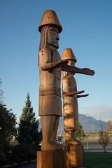 DSC_7826 (Copy) (pandjt) Tags: chilliwack bc britishcolumbia stólō stolo yakweakwioose firstnation yakweakwioosefirstnation terryhorne chiefterryhorne welcomefigures welcome sculpture carving publicart