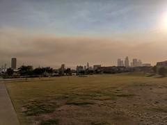 Wildfire smoke over Los Angeles (Steve Devol) Tags: downtownlosangeles smoke