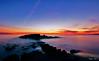 La roche percée à l'heure bleue (Philippe RIquet) Tags: mer sea ocean ciel couleurs nuages clouds sky rochers couché soleil france french flickr bretagne breizh brittany bzh sony a77mark2 tokina 1116mm f28 heure bleue