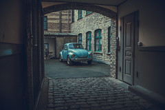 it's almost to perfect (A.Dissing) Tags: its almost perfect vw beach buggy blue back alley contrast old gammel abandoned car