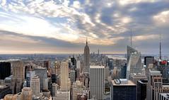 sky over nyc (poludziber1) Tags: city ny nyc travel clouds urban cityscape usa america newyork manhattan architecture