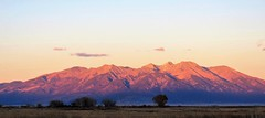 Alpenglow (Patricia Henschen) Tags: alpenglow sangredecristo mountains mountain sunset rural ranch southriverroad sanluisvalley alamosa colorado countryside backroads backroad blanca autumn clouds group 14er ellingwoodpoint littlebearpeak mtlindsey blancagroup catchycolors