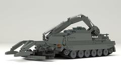Trojan AVRE (TheRookieBuilder) Tags: trojan avre military track armor lego legodigitaldesigner ldd mecabricks blender render