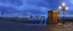 Venice - One Stormy Morning (nabilishes [on and off]) Tags: venice venezia venedig italy italia italien water veneto gondola stmarkssquare piazzasanmarco venetian sangiorgiomaggiore venicedawn front panorama markusplatz sanmarcosquare blouds blue nabilishes nabilza