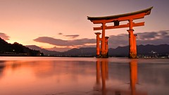 Unforgettable (somazeon) Tags: hiroshima miyajima torii itsukushima panasonic lumixgx7 広島 宮島 厳島神社 reflection japan 日本
