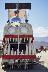 Clean Your Teefs (M L Hannah) Tags: burningman burningman2014 brc blackrockcity blackrockcity2014 brc2014 discofish artcar art amazing teeth anglerfish catchesdancers mobileart vehicle mutant mutantvehicle shiny sparkly discoball selfdriving