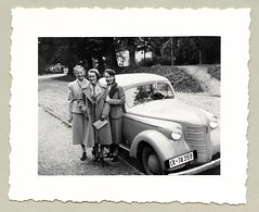 """Opel Olympia (Vintage Cars & People) Tags: vintage classic black white """"blackwhite"""" sw photo foto photography automobile car cars motor opel olympia 1930s thirties lady girl woman adolescence"""
