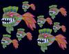 Poissons, Piranhas, Poulpes et Etoiles de Mer (Lita Blanc) Tags: poisson poulpe piranhas etoiles de mer dessin art dibujo draw color multicolor