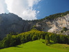 Lauterbrunnen (bkuzio) Tags: clouds lauterbrunnen switzerland waterfall blue sky green autumn summer trees valley rocks europe