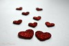 Love in the snow... (Maria Godfrida) Tags: closeup red hearts love whitebackground 7dwf