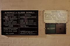 Gas Alarm: Rattles (Douguerreotype) Tags: london city uk england museum ww2 britain british gb sign war
