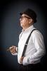 Vintage (OneMarie!) Tags: man hat tirantes dandy cigar cigarro fedora retrato portrait nikon d7100 hombre profile