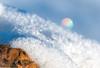 Ice crystal rainbow on a log HMM (Different Aspects) Tags: macromondays stick ice snow macro 7dwf monday freetheme