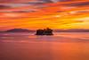 sunset 5537 (junjiaoyama) Tags: japan sunset sky light cloud weather landscape orange yellow contrast color bright lake island water nature fall autumn