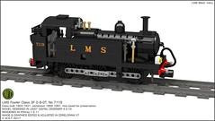 02. LMS Fowler Class 3F 0-6-0T 'Jinty' presentation (wes_turngrate) Tags: lego model moc lmsjinty fowlerclass3f 060 tank engine locomotive povray ldd