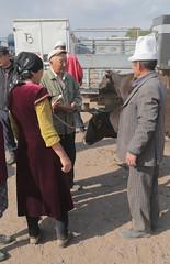 Superior Hat (peterkelly) Tags: kyrgyzstan karakol livestockauction canon 6d asia digital centralasiaadventurealmatytotashkent gadventures hat cows cow man woman