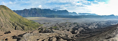 ... volcanic landscape ... (wolli s) Tags: bromo indonesia indonesien java krater vulcano vulkan crater landscape panorama smoke stitched timur volcanic volcaniclandscape volcano sukapura jawatimur id nikon d7100