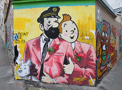 Tintin and Haddock (ragingr2) Tags: paris graffiti streetart artwork tintin haddock kuifje