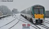 22033 departs Portlaoise, 10/12/17 (hurricanemk1c) Tags: railways railway train trains irish rail irishrail iarnród éireann iarnródéireann portlaoise 2017 snow 22000 rotem icr rok 5pce premierclass 22033 1125heustonlimerick