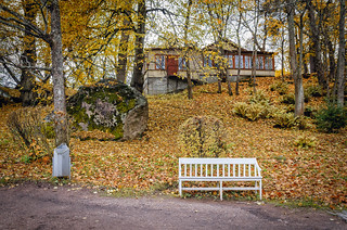 Autumn in the Monrepos park in Vyborg.