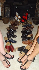 His and hers collection of sandals and clogs (2moshoes) Tags: clogs clog backstrap malefeet man manglaze female platform femalenail sandals sandal strap swedish strappy women wood nailpolish nail thong toering toerings
