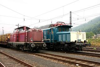 Rail4U 194 178-0 und VEB V100 2091 Trier-Ehrang Rbf