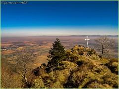 VIEIL ARMAND ET PLAINE D'ALSACE - HAUT RHIN (jamesreed68) Tags: fujifilm finepix a345 nature alsace hautrhin mountain france grandest sommet hartmannswillerkopf croix vieilarmand 1418