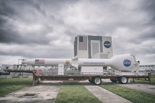 Launch Abort System Mock-Up for the Orion SLS outside of the VAB - Kennedy Space Center