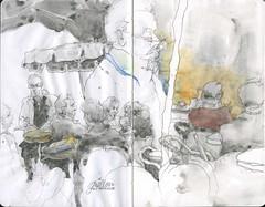 Croquis avec Maître Nico (k.ro001) Tags: sketch croquis aixcroquis kro001 carolinemanceau dailypainting carnetdevoyage aquarelle watercolour workshop stage carnetdecroquis croquisaquarellé