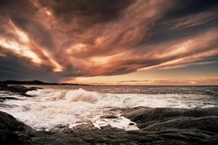 (Frank S. Schwabe) Tags: klubba kristiansund sky ocean norway nordmøre water waves wind atlantic canon coast clouds cloudy coastal ef24mmf28isusm eos sunset sea shore storm