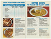 Ad - Supper Menu Planner Featuring Chunky Soup D (Eudaemonius) Tags: hm0089 kaye collection 20151203 junior league sale santa barbara ca various recipe clippings eudaemonius blue marble bounty bluemarblebounty supper menu planner chunky soup campbells western burger beef indienne chicken ham potage country chowder hearty beans pennsylvania dutch bowl