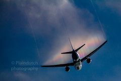 Creating it's own cloud (Dennis-Dieleman) Tags: klm plane airplane aviation boeing 777 cloud condensation departure take off flying departing sky clouds blue aviacion flugzeug vliegtuig luchtvaart