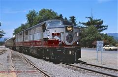 (SEE & HEAR)--Wine Train, 71-72, Rutherford, CA. 7-27-1999 (jackdk) Tags: train railroad railway locomotive alco alcofp4a mlw mlwfp4a fa napa napavalley winetrain napavalleywinetrain tourist rutherford rutherfordcalifornia seeandhear seehear alcofa