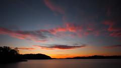 There You Are. (jurgenkubel) Tags: orange siluett klippa hav see sea östersjön ostsee balticsea cliff sweden sverige schweden moln clouds wolken olympus sky landscape seascape water beach skyline soluppgång sunrise