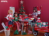 Countdown to Christmas: Wrapper Elves (APPark) Tags: dolls ruruko 16scale dioramas christmas decorations giftwrapping ribbon bows wagon