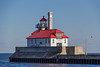 outer light (otgpics) Tags: duluth harbour south breakwater outer light lighthouse canal park lake superior concrete steel danger sign red lines peeling paint brick structure shipping pier channel freshwater water worlds most inland port