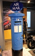 1930's Air Mail post box  09/12/17. (Ledlon89) Tags: postoffice postboxes pillarbox pillarboxes post postofficemuseum londonmuseums london office mail royalmail