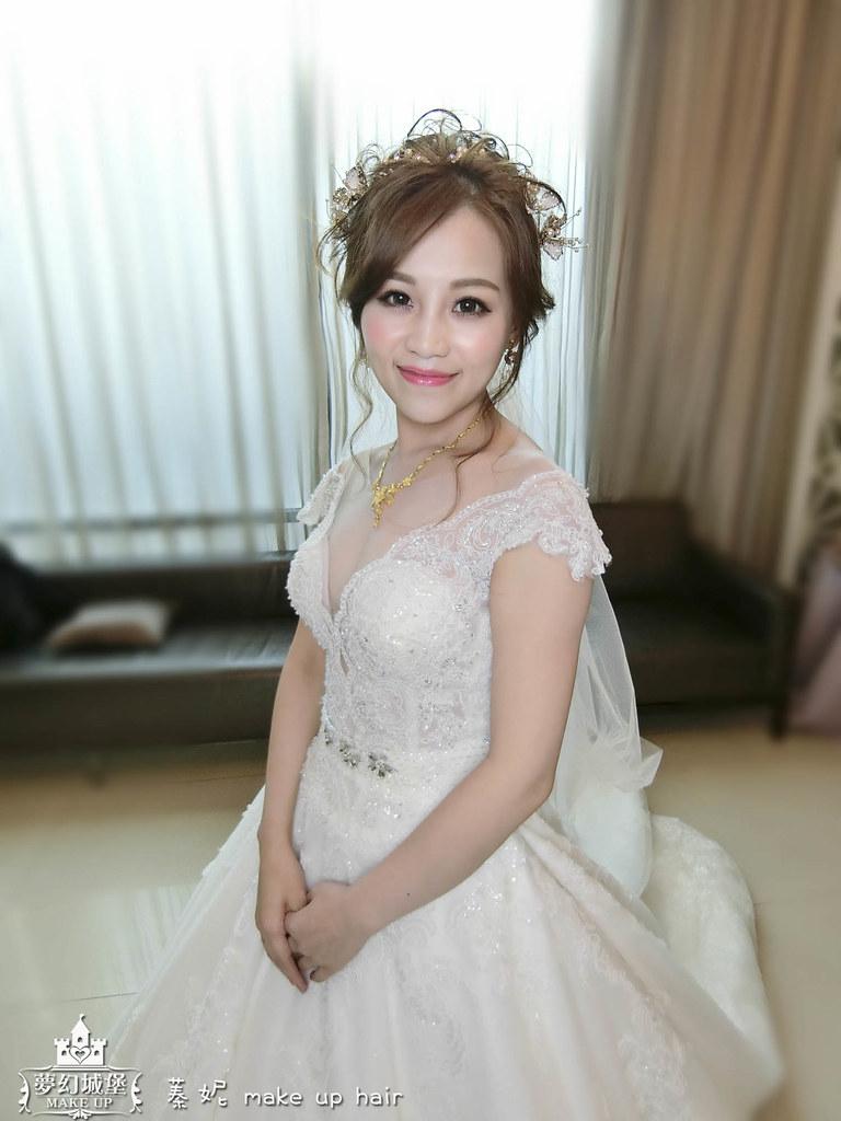 【新秘蓁妮】bride雅文 結婚造型 / 台中兆品酒店