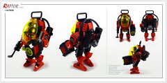 Raptor series: M:Tron (Brixnspace) Tags: raptor walker frame powersuit suit lego moc toy biped space mtron classic mining