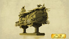 FrZ-129 Airborne Aircraft Carrier (Frombol) Tags: airship aircraftcarrier lego steampunk